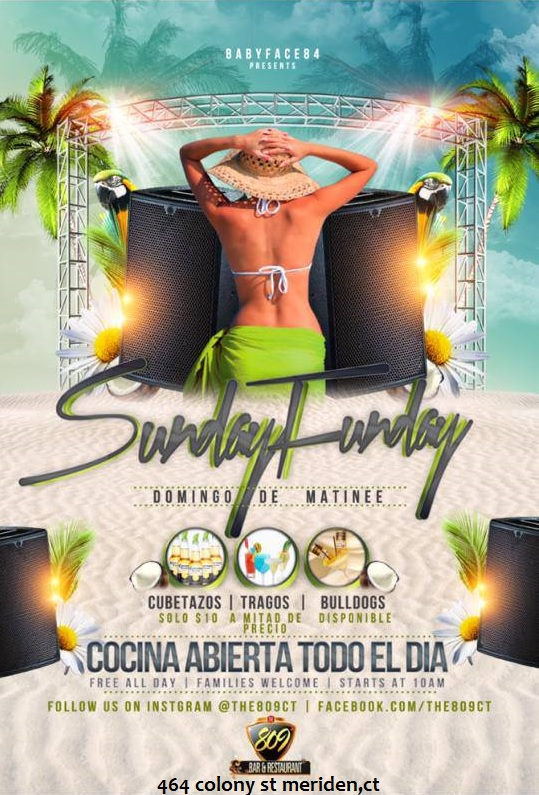 #DomingoDeMatinec #SundayFunday #809BarCT #MeridenCT203